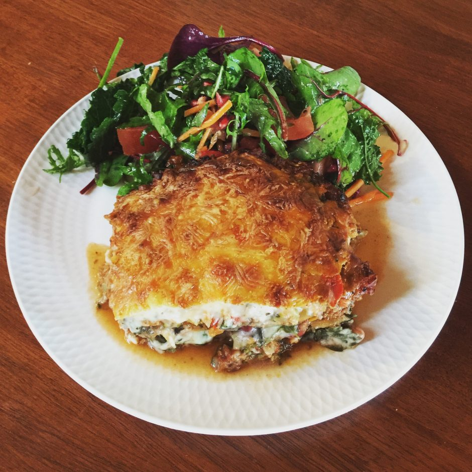 vegan, dairy and gluten free lasagne