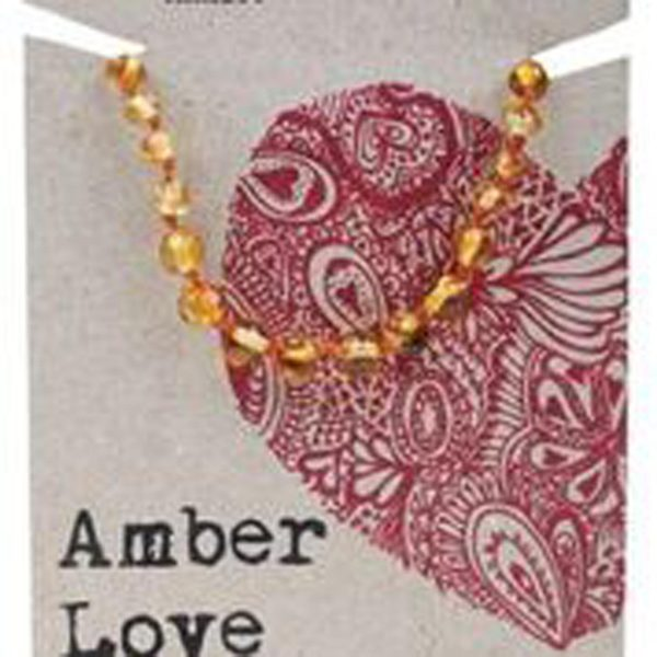 honey love teething necklace baltic amber love baby child