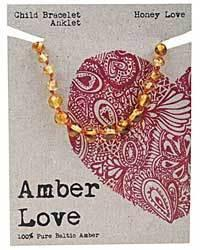 AMBER LOVE CHILD BRACELET / ANKLET HONEY LOVE WWW.MOTHERBYNATURE.COM.AU