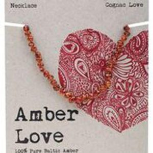 AMBER LOVE CHILD NECKLACE COGNAC LOVE www.motherbynature.com.au