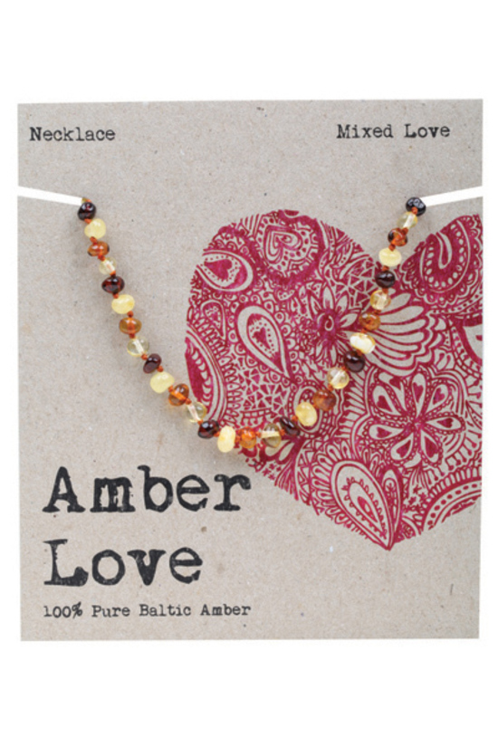 AMBER LOVE CHILD NECKLACE MIXED LOVE www.motherbynature.com.au