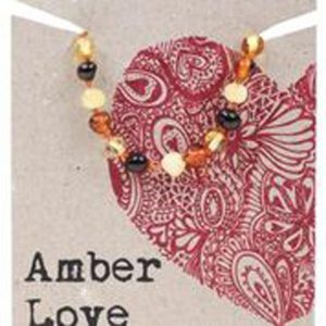 mixed love amber teething necklace