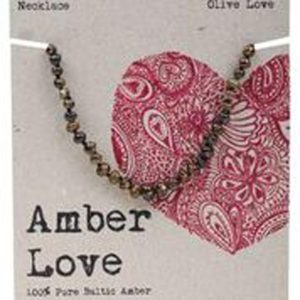 amber teething necklace olive love baby child