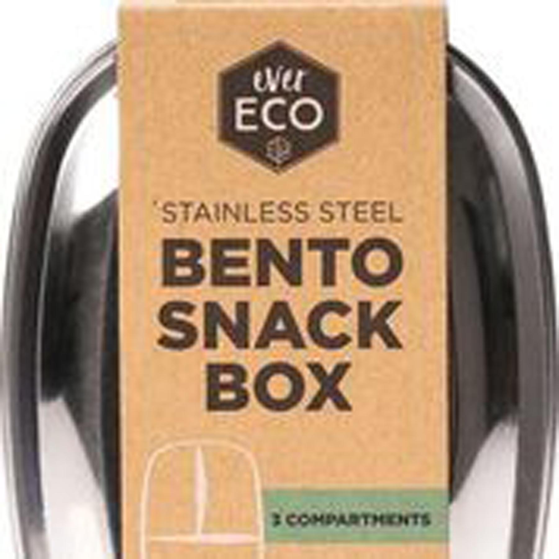 EVER ECO BENTO SNACK BOX 3 COMPARTMENTS www.motherbynature.com.au