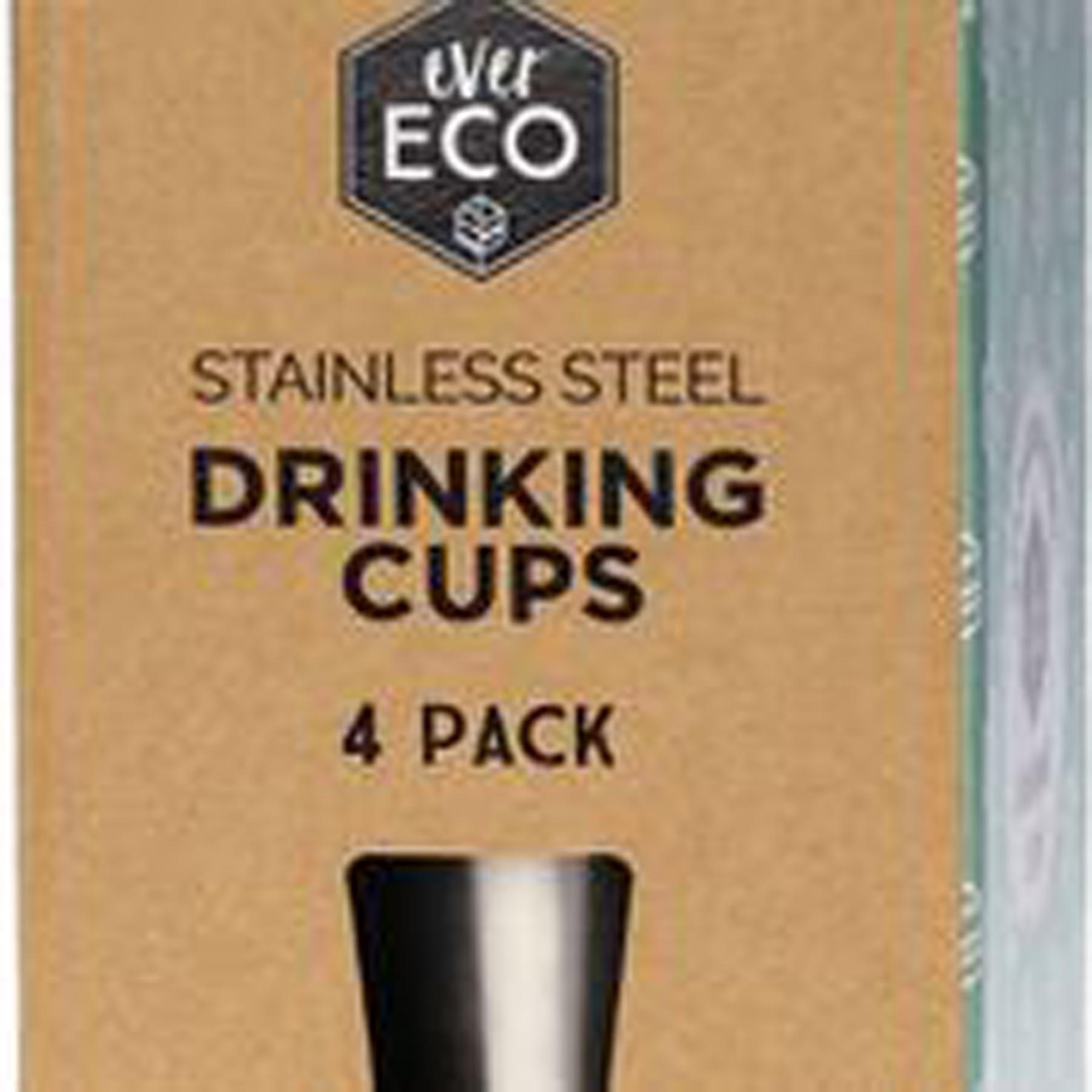 EVER ECO STAINLESS STEEL DRINKING CUPS WWW.MOTHERBYNATURE.COM.AU 500ml