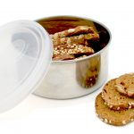 KIDS KONSERVE NESTING TRIO CONTAINERS SET OF 3 CLEAR www.motherbynature.com.au