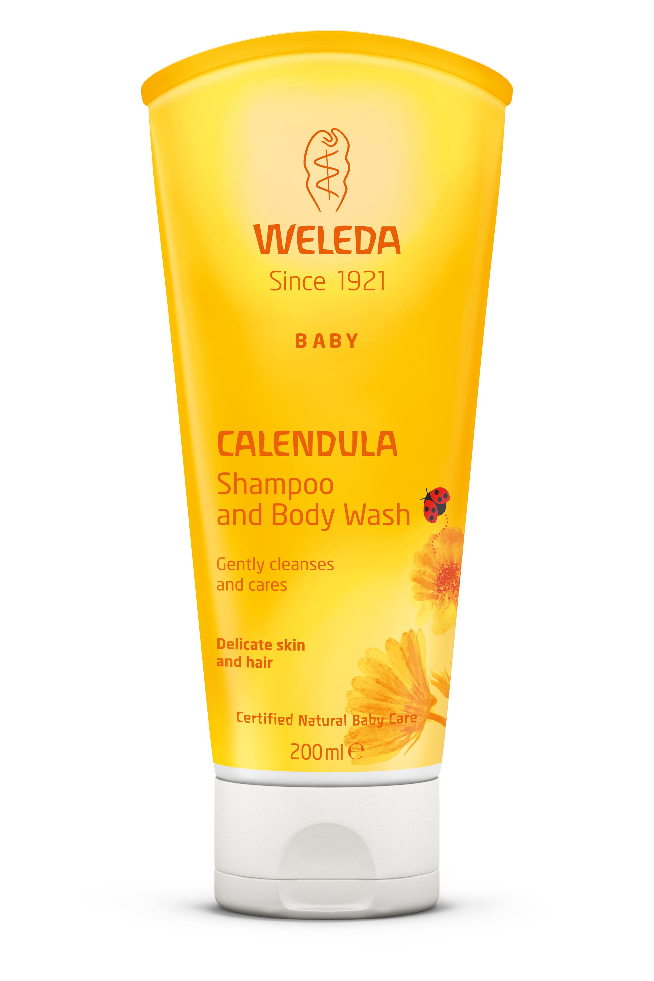 WELEDA CALENDULA SHAMPOO & BODY WASH www.motherbynature.com shampoo body wash weleda baby shampoo