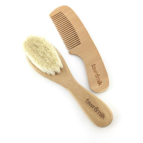 FAWN AND MILK BRUSH AND COMB SET www.motherbynature.com.au