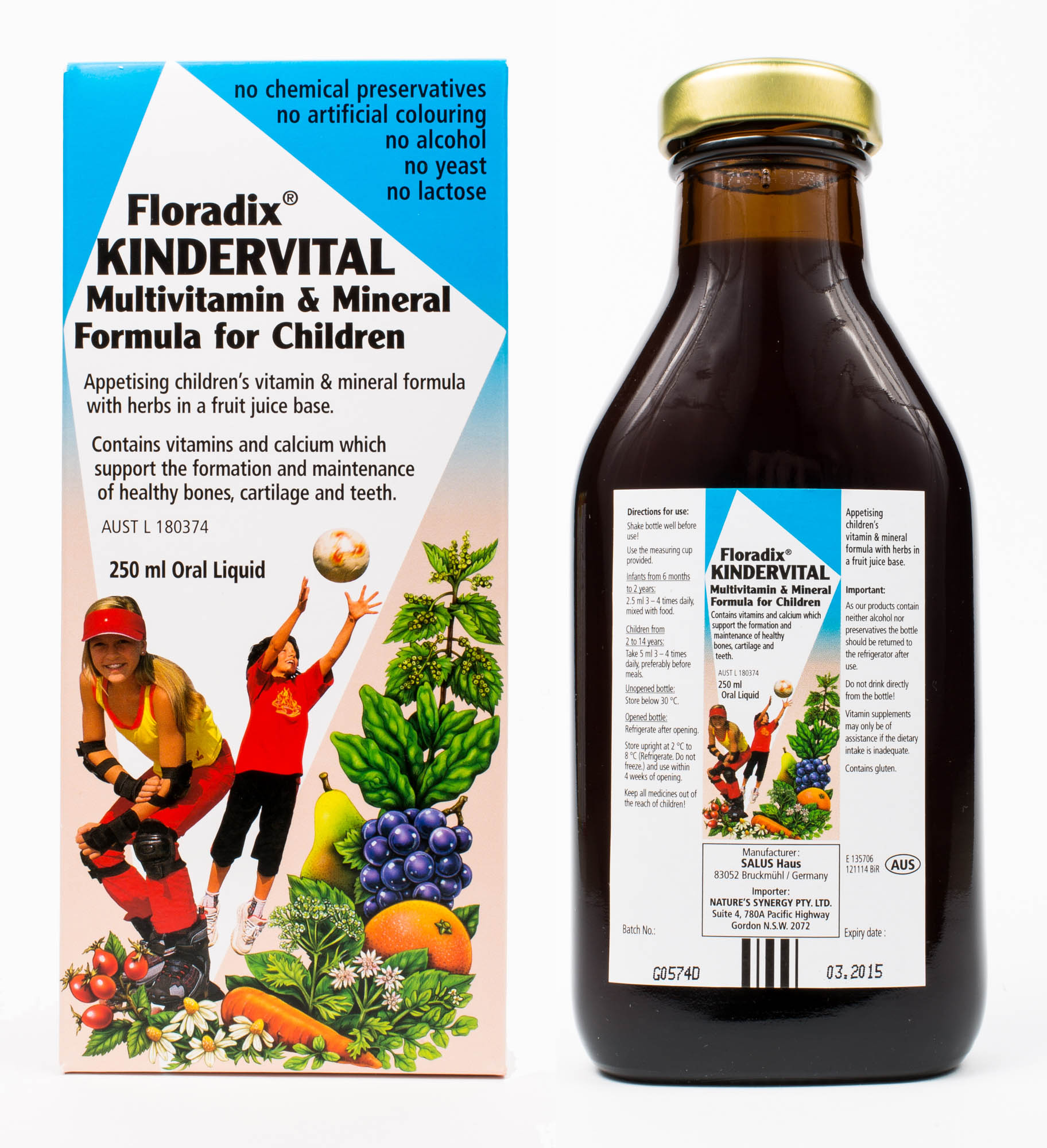 floradix kindervital www.motherbynature.com.au multivitamin drink