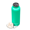 Green Insulated Drink Bottle montii stainless steel bamboo screw cap lid 600ml australia