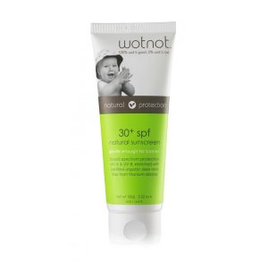 wotnot natural baby sunscreen wotnot australia www.motherbynature.com.au off 30