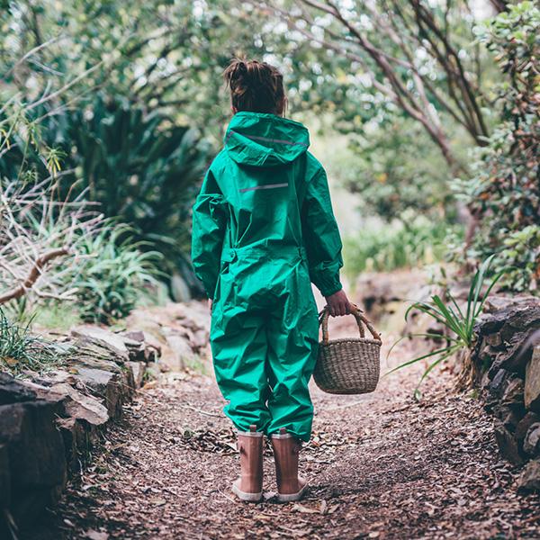 nature play sa waterproof onesies green