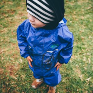 NATURE PLAY SA WATERPROOF ONESIES sa waterproof overalls blue www.motherbynature.com.au