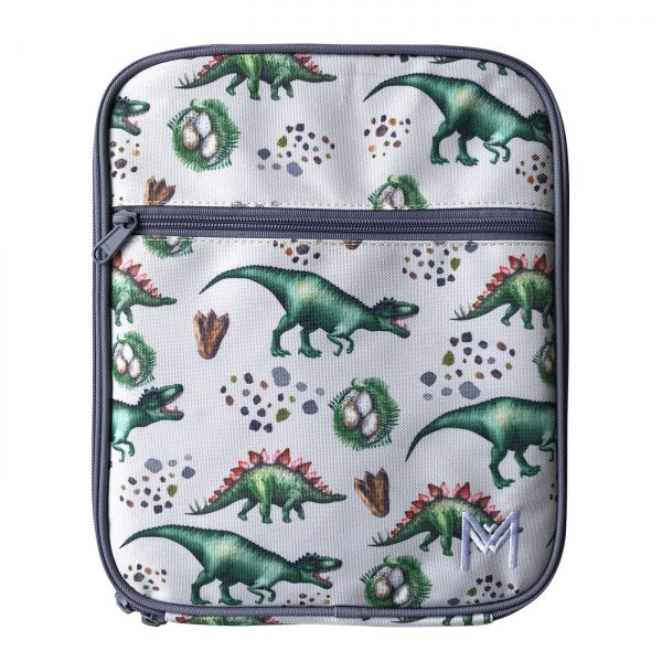 MontiiCo Insulated Lunch Bag - Dinosaur WWW.MOTHERBYNATURE.COM.AU LUNCHBOX