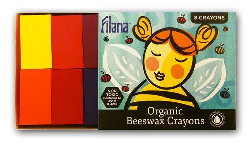 Filana 8 Block Organic Crayons Rainbow Colours www.motherbynature.com.au