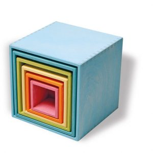 Grimm's Stacking Boxes Pastel large www.motherbynature.com.au