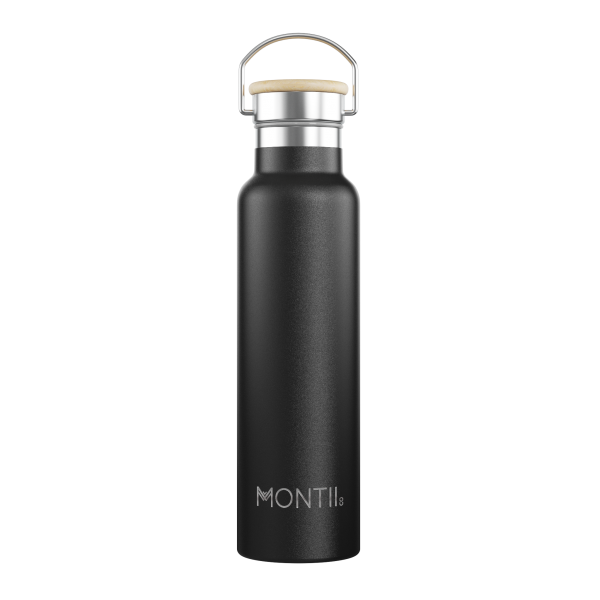 MontiiCo Mega Drink Bottle - BLACK motherbynature.com.au