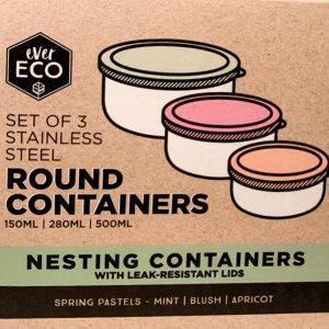 ever eco round nesting containers pastel1