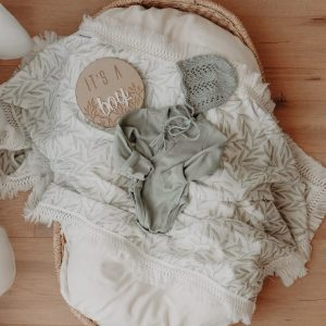Ziggy Lou VINES SWADDLE WITH CREAM