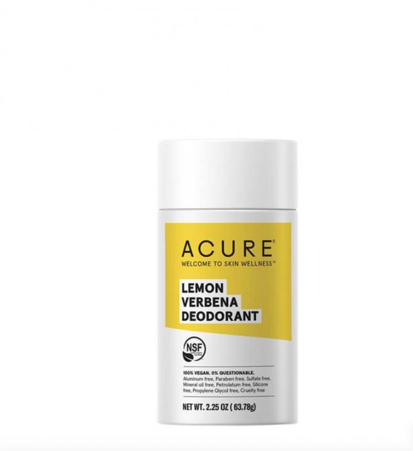 Acure deodorant lemon verbena