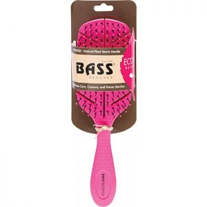 Bass Brushes Bio-Flex Detangler Hair Brush Pink