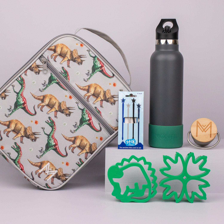 montiico lunch bag dinosaur