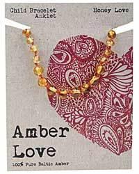 AMBER LOVE CHILD BRACELET / ANKLET HONEY LOVE WWW.MOTHERBYNATURE.COM.AU