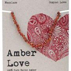 AMBER LOVE CHILD NECKLACE COGNAC LOVE www.motherbynature.com.au