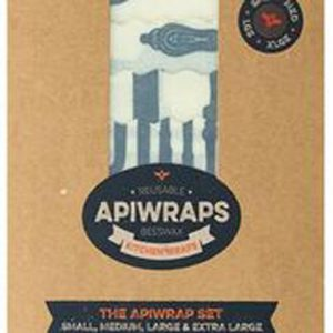 APIWRAPS REUSABLE BEESWAX WRAPS 4 PACK www.motherbynature.com.au