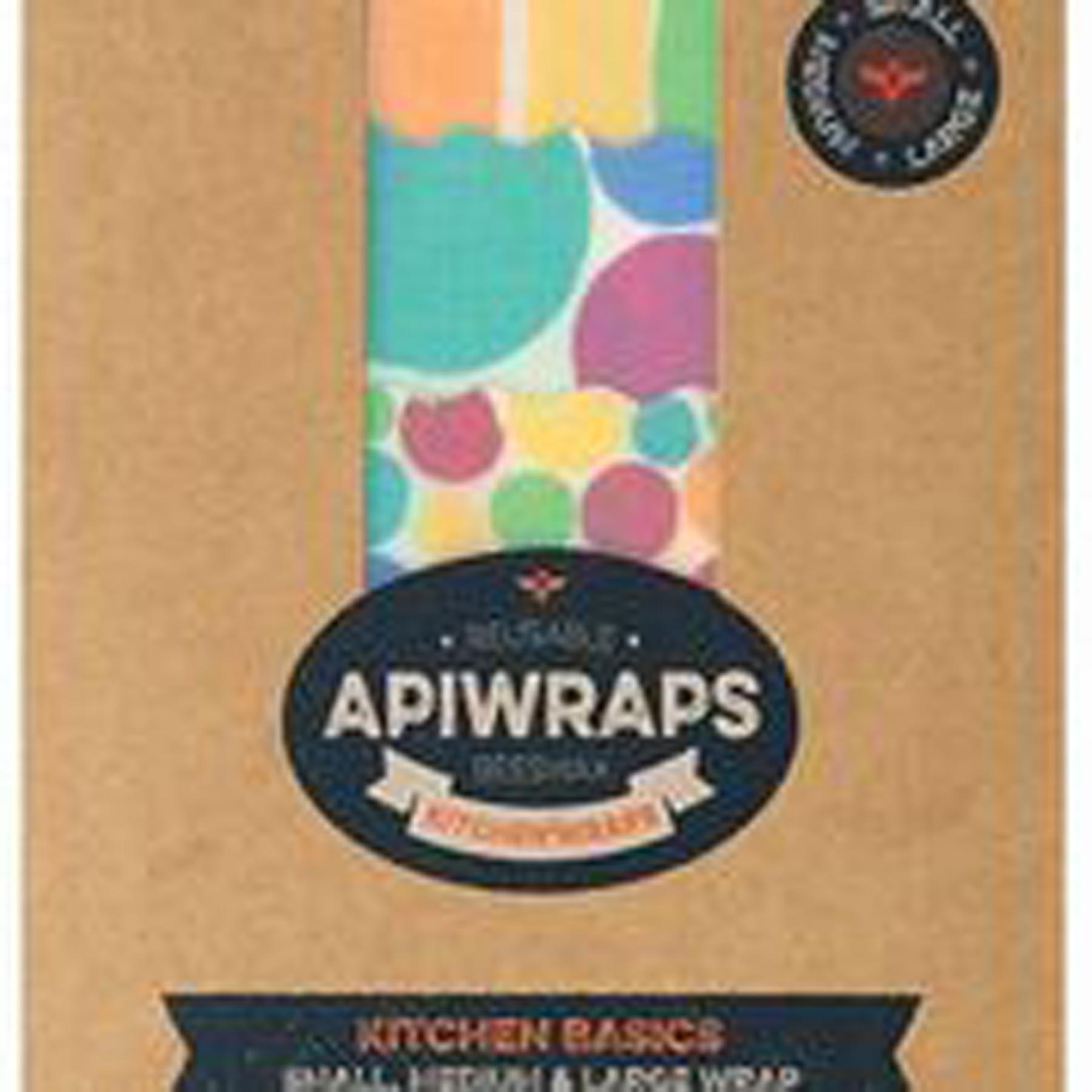APIWRAPS REUSABLE BEESWAX WRAPS 3 PACK www.motherbynature.com.au