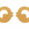NATURAL RUBBER SOOTHER TEETHER FISH 2 PACK WWW.MOTHERBYNATURE.COM.AU.