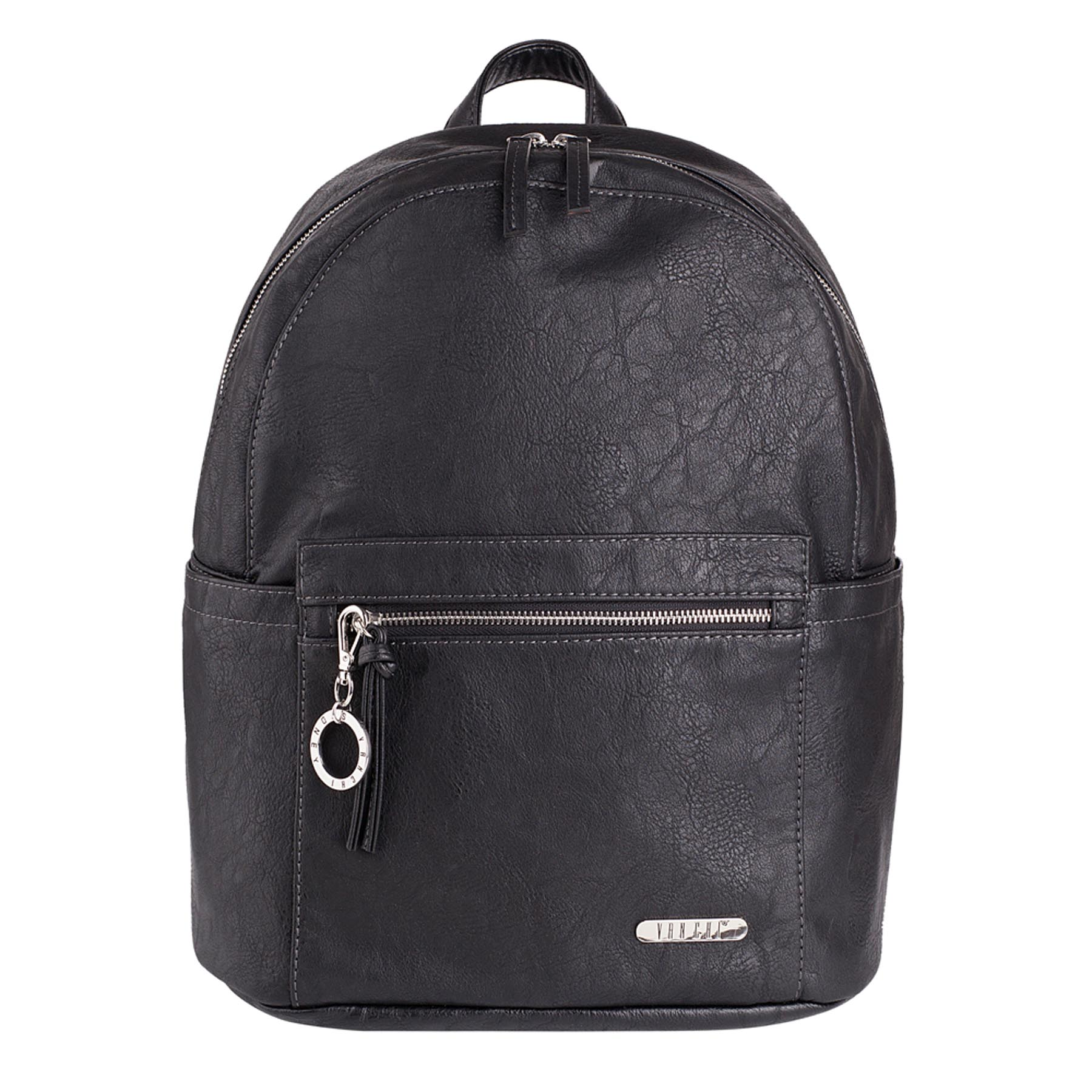 VANCHI MANHATTAN BACKPACK BLACK WWW.MOTHERBYNATURE.COM.AU NAPPY BAG BABY BAG DIAPER BAG VANCHI