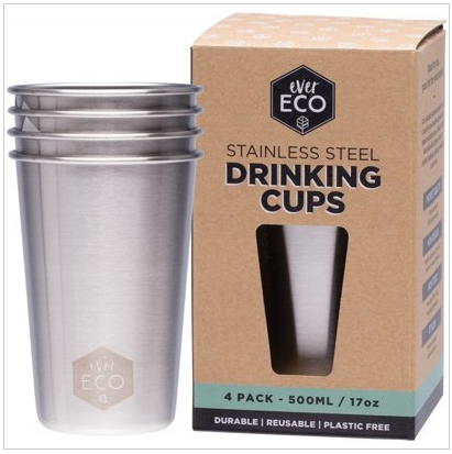 EVER ECO STAINLESS STEEL DRINKING CUPS
