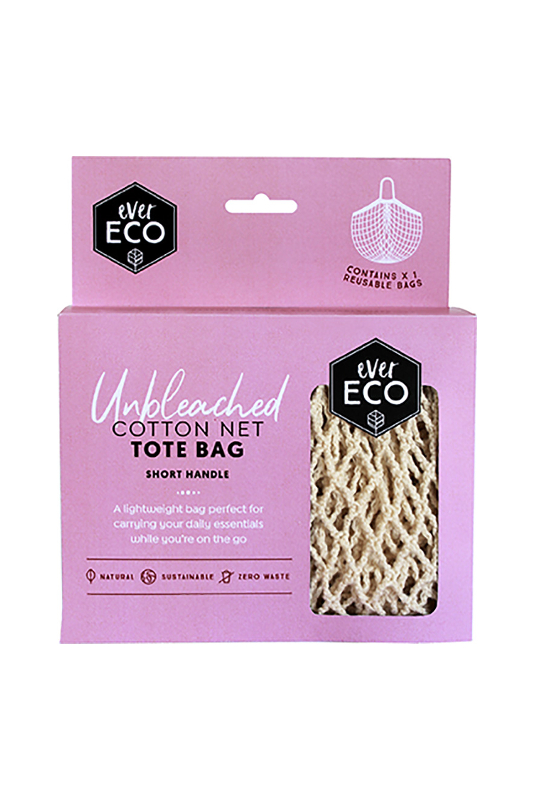 ever eco cotton net tote bag short handle www.motherbynature.com.au