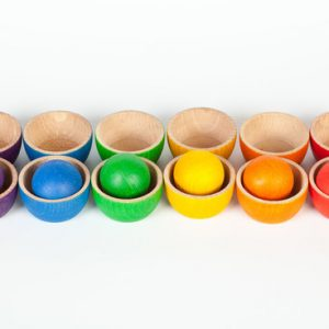 Grapat Coloured Bowls and Ball set www.motherbynature.com.au