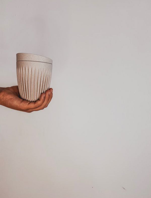 HUSKEE REUSABLE COFFEE CUP NATURAL 8oz