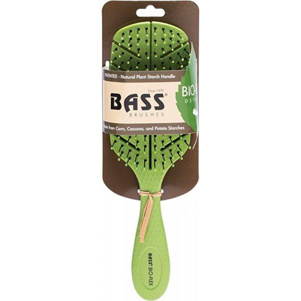BASS BRUSHES BIO-FLEX DETANGLER HAIR BRUSH GREEN